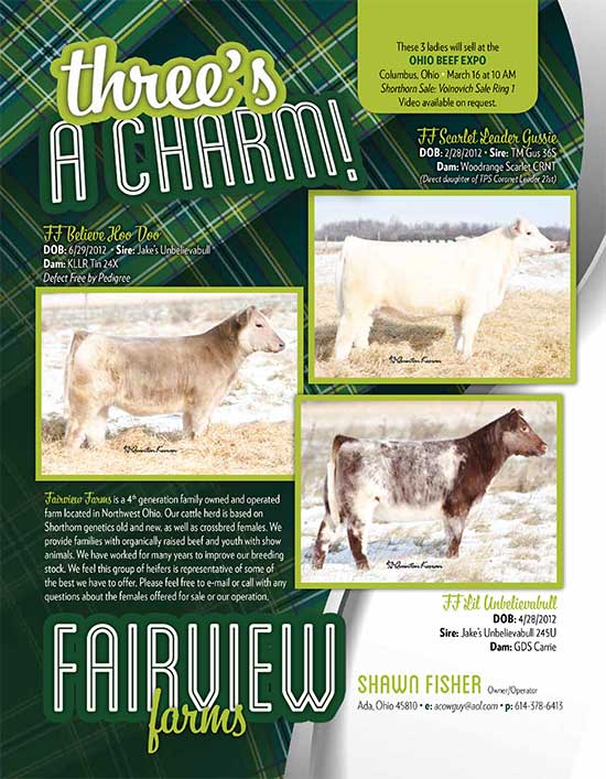 3charm Threes A Charm all sell at Ohio Beef Expo   March 16th 10:00 am