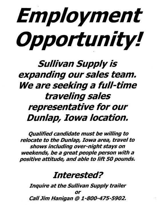 sullivan help wanted Sullivan Supply Hiring