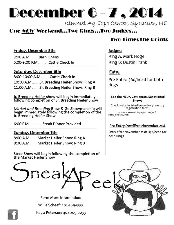 2014 December Flyer2 Sneak A Peek Preview December 6th & 7th, 2014